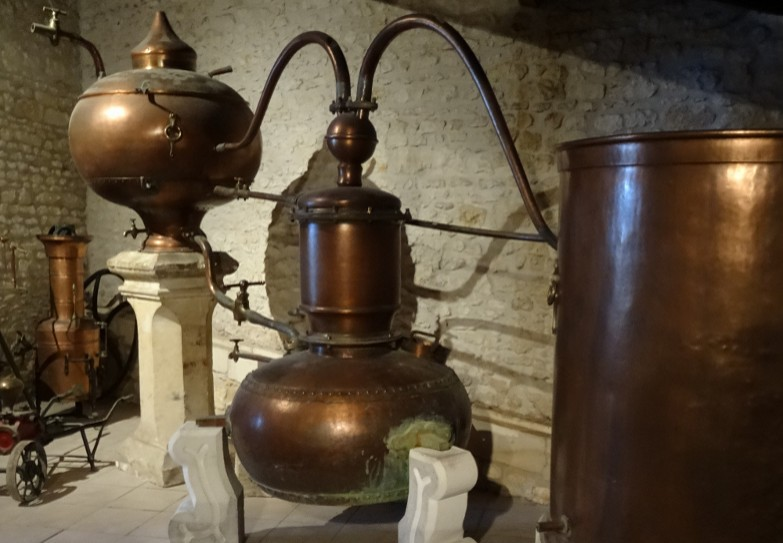 Very old pot still for cognac no more allowed to be used in the Cognac country