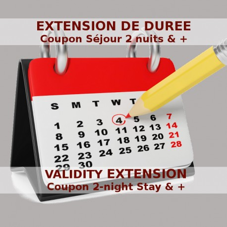 Validity extension of a 2-night stay and + coupon