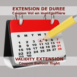 Validity extension of a balloon flight coupon