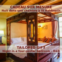 One night in a four-poster bed room of Le Relais de Saint Preuil