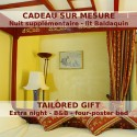 Extra nightin a four-poster bed room at Le Relais de Saint Preuil - B&B