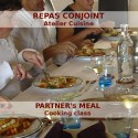 Partner's meal during a cooking class near Cognac
