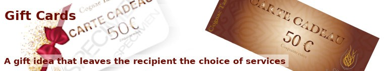 Gift Cards to offer - A gift idea that leaves the recipient the choice of services